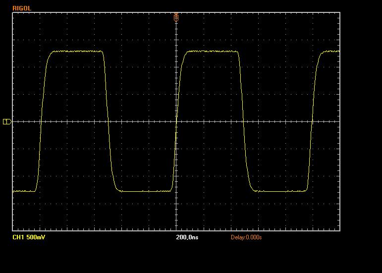 Obdélník 1MHz, zátěž 1k - bez filtru
